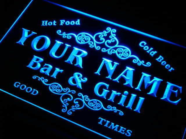 u44636-b TERHUNE Family Name Bar /& Grill Home Decor Neon Light Sign