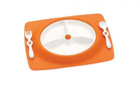 Orange Mate Stay Put Mat and Plate by Skip Hop