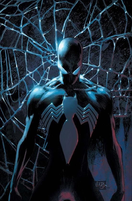 Black suit spidey or venom . . . either way this guy scares me.