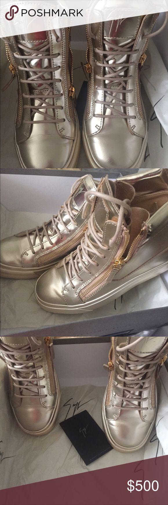 Giuseppe Zanotti Womens Metallic Gold Sneakers 38 Authentic Womens Giuseppe sneakers size 38        Original Box and Tags! Giuseppe Zanotti Shoes Sneakers