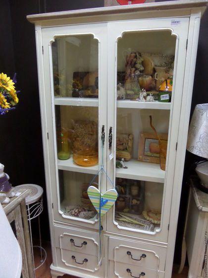 """Мебель ручной работы. Ярмарка Мастеров - ручная работа. Купить Шкаф витрина """"Ностальгия"""". Handmade. Белый, мебель в стиле прованс"""
