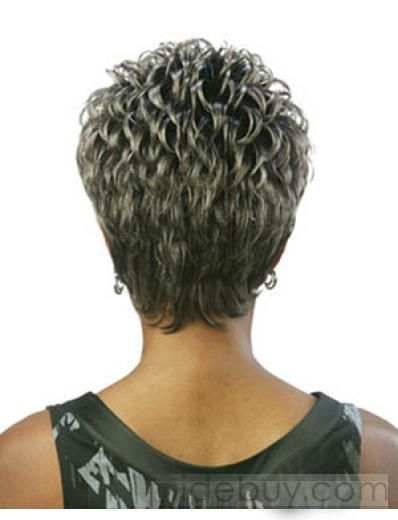 Capless Short Curly Grey 9