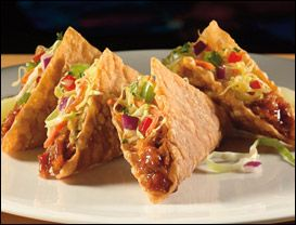 Applebee's Chicken Wonton Tacos, the very best thing EVER invented!!! I order these everytime I go to Applebees!!!!!