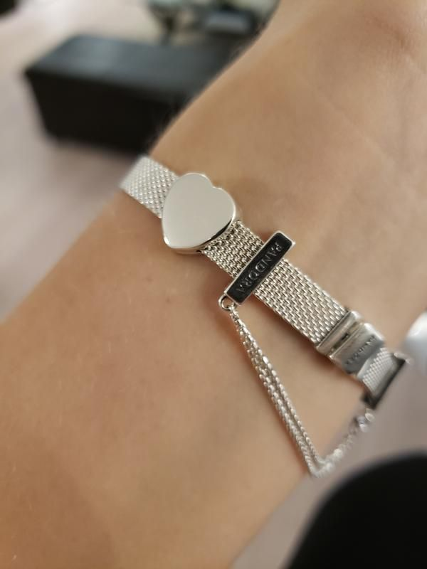 Review photo 2   New pandora bracelet, Mesh bracelet, Pandora ...