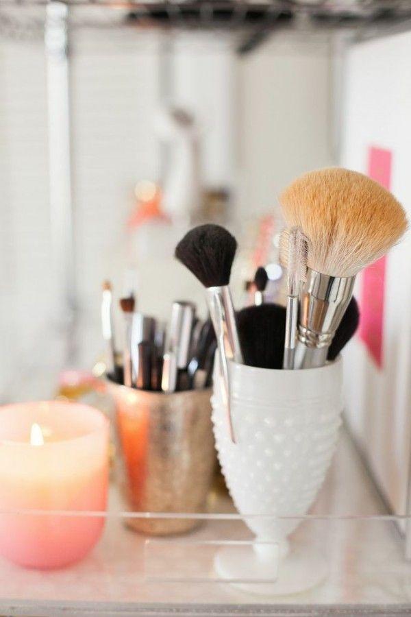 Trends Diy Decor Ideas  2017 / 2018    Rangement maquillage pas cher avec un bougeoir IKEA  www.homelisty.com…    -Read More –