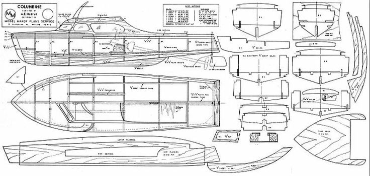The COLUMBINE is one of the model airplane plans available for download and printing.