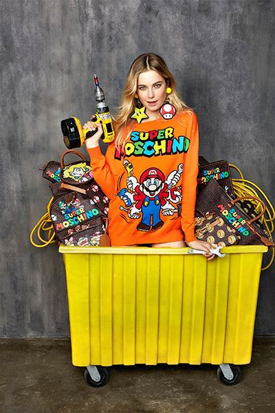 The game we knew as Mario, came up in Moschino designs as 'Super Moschino. #fashion #moschino #jeremyscott #accessories #supermario #inspire #design #supermoschino