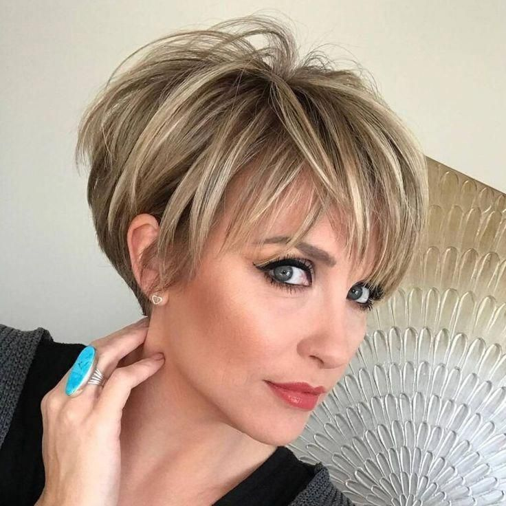 24 Cool And Charming In 2020 Longer Pixie Haircut Thick Hair Styles Short Hair Styles