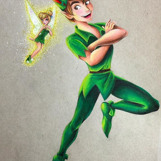 All done!!! This one only took me a little over a day to complete. No crazy gown detail this time!! #peterpan #peterpanfanart #fanart #officialdisneyart #featuredisneyart #disney #disneyart #disneyfanart #illustration #tink #tinkerbell #finishedart #prismacolor #prismacolorpencils #tonedgray #strathmore #disneyfanartshare #disneyartfeatures