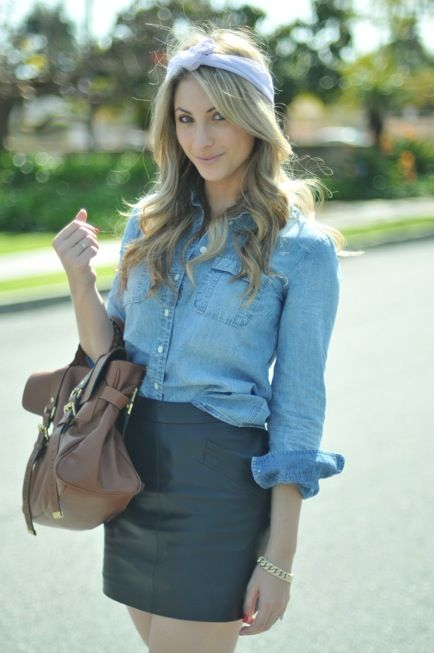 17 Best images about How to Wear: The Denim Shirt on Pinterest ...