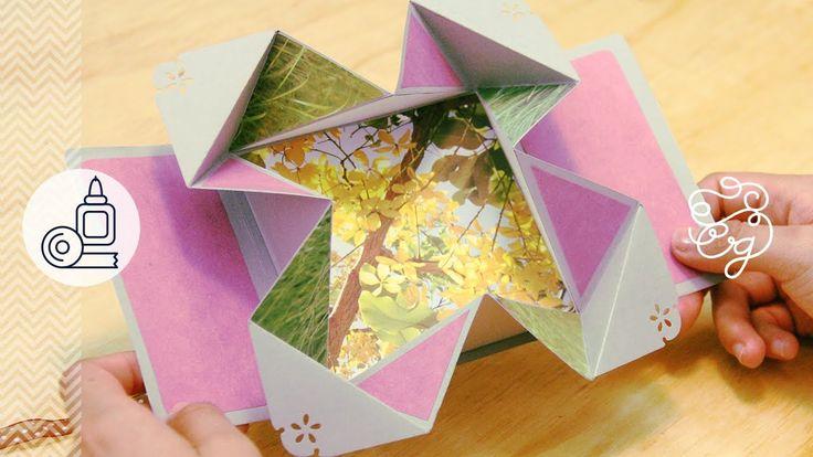 Tarjeta Fold-Out EXPANDIBLE Scrap + origami = Regalo