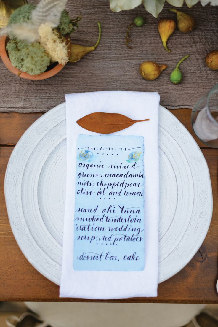 ナチュラル系の式に♡結婚式は青でコーディネイトしたい♡青のメニュー表のまとめ一覧です♡