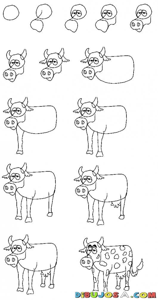 how to draw a cow youtube