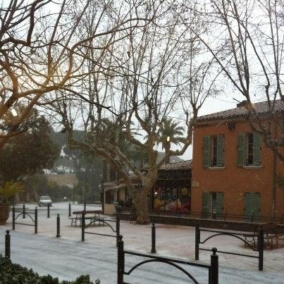 Hier Bormes les Mimosas sous la neige