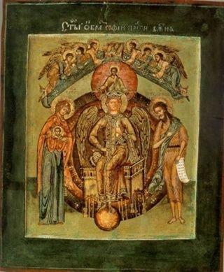 София – Премудрость Божия (Новгородская) икона Божией Матери