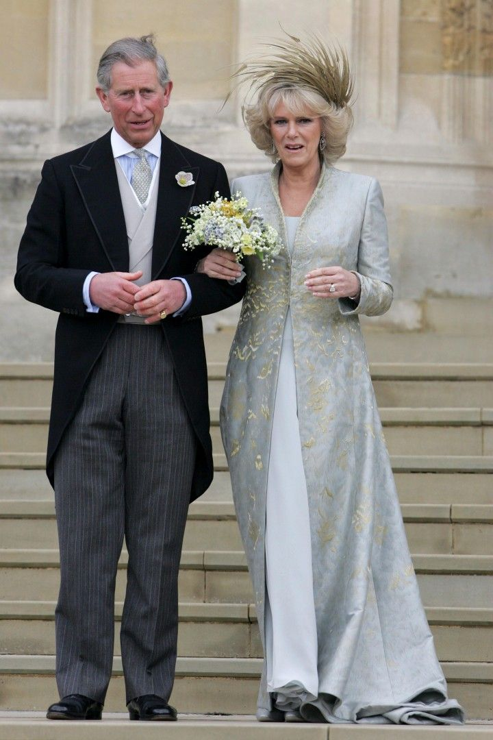 Camilla Parker Bowles, later the Duchess of Cornwall, on her wedding day in 2005.