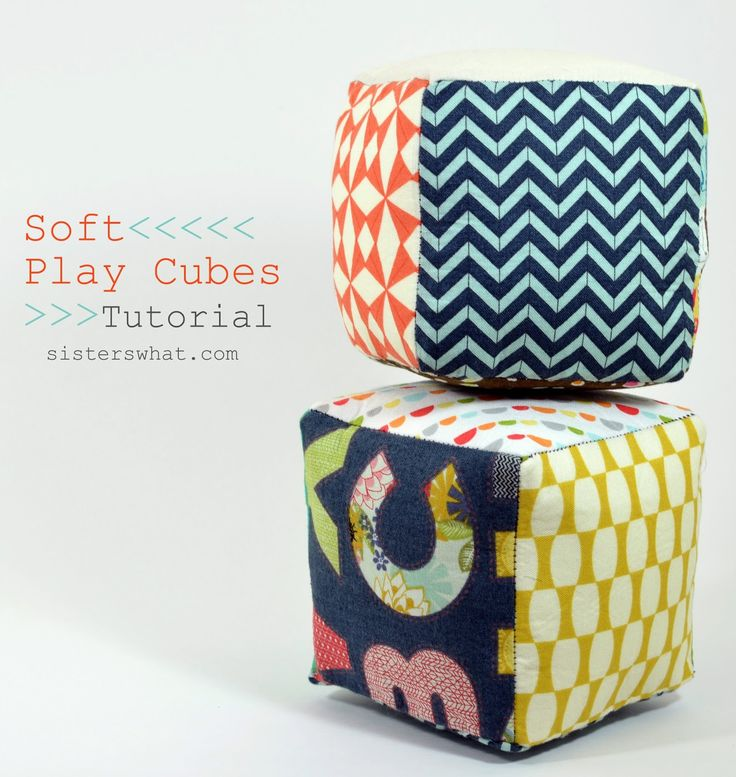 Soft Fabric Cubes Tutorial, Play Cubes