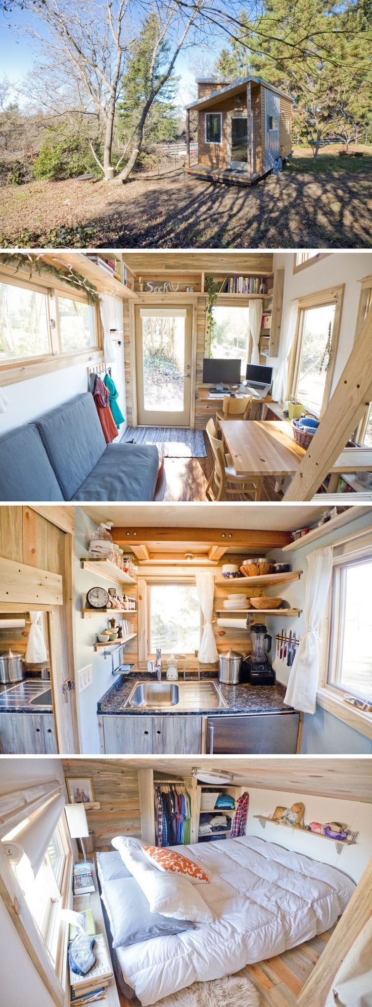 I remember falling in love with the idea of living in a tiny house last Christmas while back in Michigan. I was watching tv with my mom and sister watching whatever was on HGTV when a show about Tiny House's came on. I suddenly became enthralled with this small house on wheels. I became swept up in the romantic idea of moving wherever you wanted with your home right behind your truck. Boston one day, Cali the next? Done. We continued to watch the show and I loved the idea of living wit...