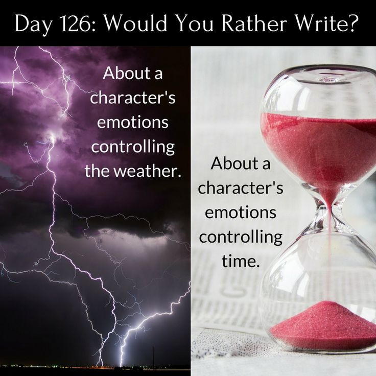 "Day 126 of 365 Days of Writing Prompts: Write about a character's emotions controlling the weather or time. Shannon: ""Why is it raining,"" Megan asked the rhetorical question, since she alread…"