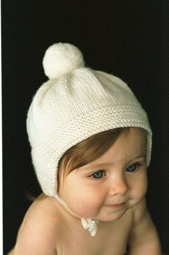 Knitting Pattern for PomPom Cap; make this for ALL THE BABIES!!!