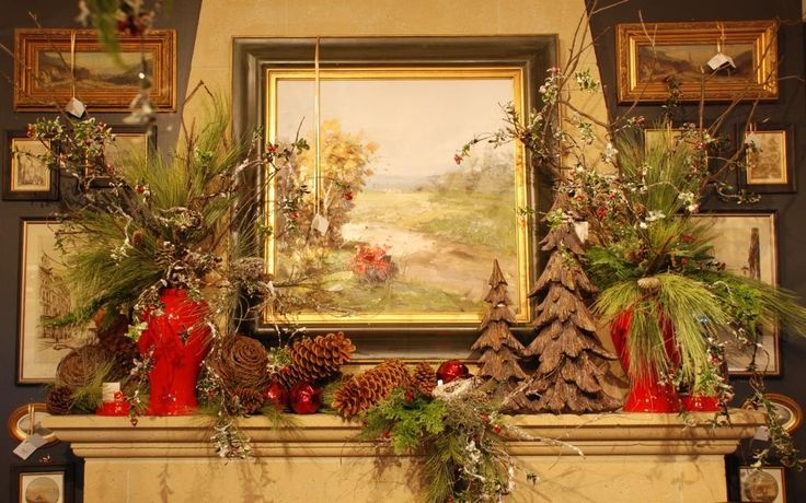 Greenhills Christmas Decor : Best images about christmas hearths on