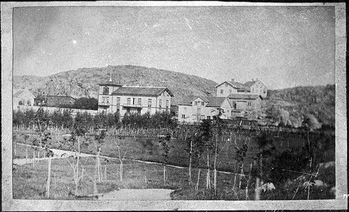 House of consul and merchant Benjamin Mollén, Lysekil, Sweden  House of consul and merchant Benjamin Gabriel Mollén with the newly planted park. (Son of old Consul Johan Gabriel Mollén who founded the first bath in Lysekil.) 1864