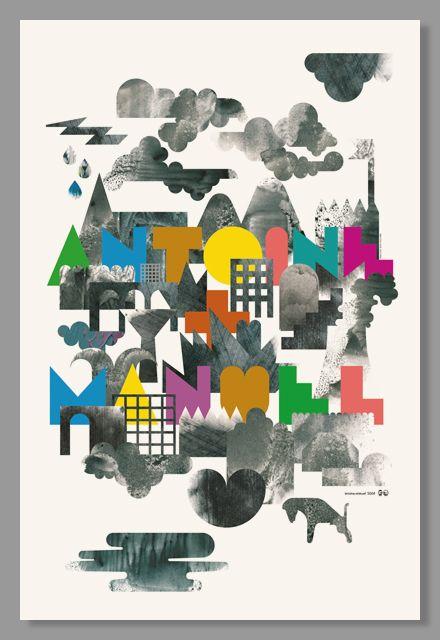 Affiche pour l'exposition « Antoine + Manuel, graphiste et designer », Antoine et Manuel, 2009