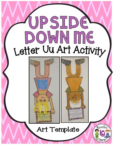 84 best letter u images on pinterest day care kids education and letter u art activity upside down me this pkg contains templates to create this spiritdancerdesigns Gallery
