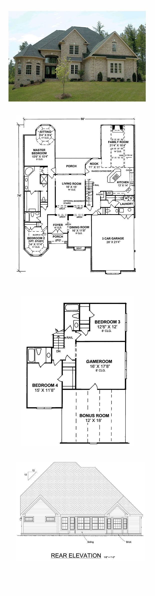 European Style COOL House Plan ID chp 16629