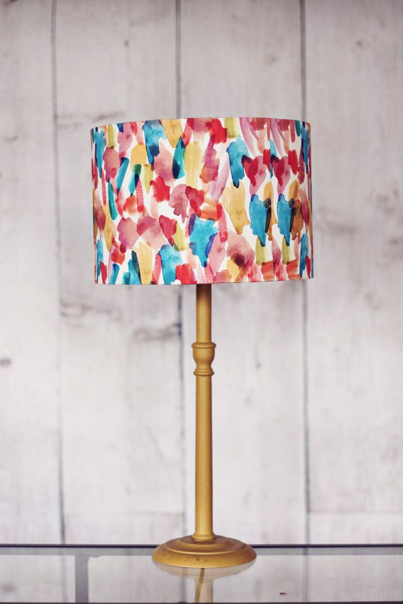 Hey, I found this really awesome Etsy listing at https://www.etsy.com/uk/listing/237011654/colourful-lampshade-fabric-drum-lamp