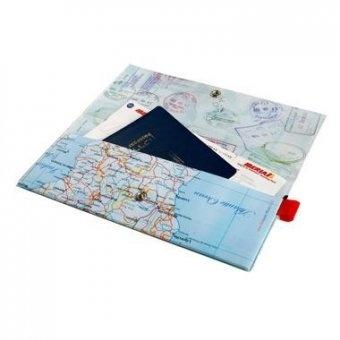 world map passport case