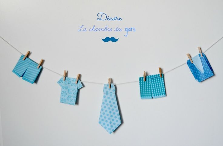 guirlande vêtements origami