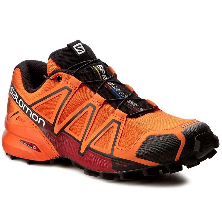 Buty SALOMON - Speedcross 4 392401 27 V0 Flame/Black/Red Dalhia