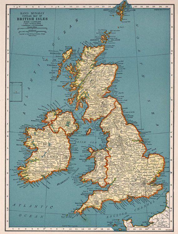 Monster image for printable map of uk and ireland