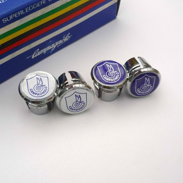 Vintage 70s Style Campagnolo, Chrome Racing Bar Plugs, Caps, Repro
