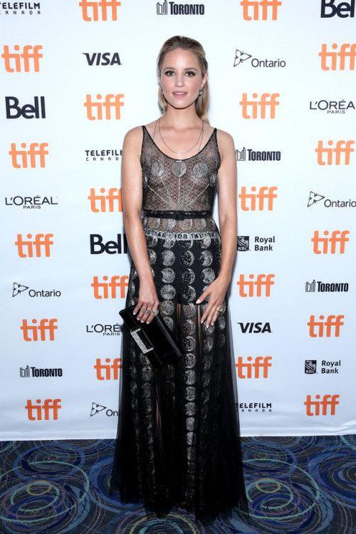 Dianna Agron in Christian Dior at the Toronto Film Festival premiere for Novitiate on September 11, 2017.