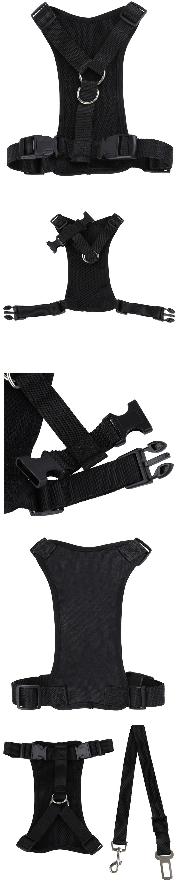 Pet dog car safety chest strap + Pet dog  car seat belt - Secure Your Pet While Driving(S)