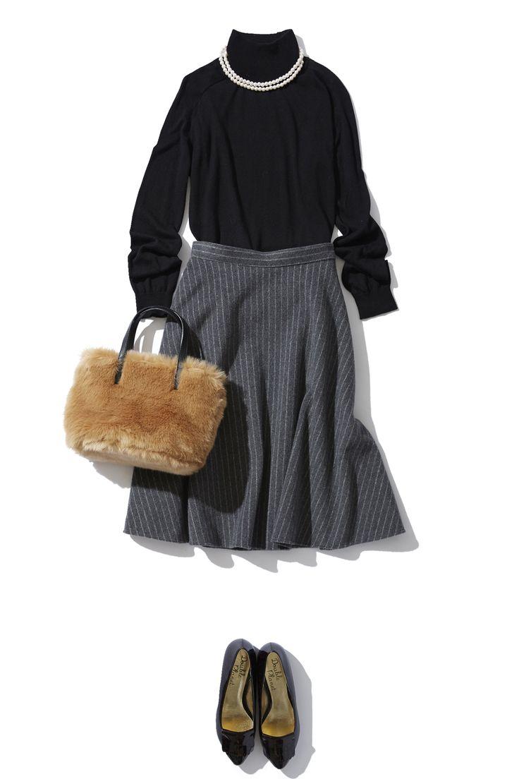 ピンストライプスカートのIN or OUTのバランス学 ― A