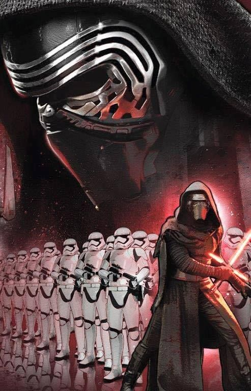 Another image of Kylo Ren through official promo art of Star Wars Episode VII - The Force Awakens.