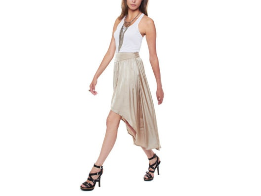 Line & Dot Fish Tail Skirt