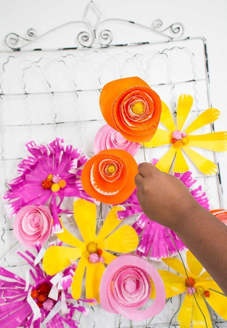 Paper Plate Flowers For Kids How To Make Paper Flowers With Paper