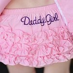 Personalized ruffled bloomers for newborn baby girl gift
