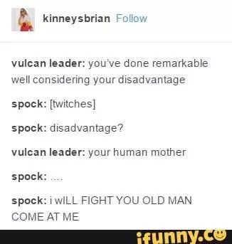 okay, WHY were the Vulcans so racist in the new film? they weren't in TOS.. it has aways bothered me.