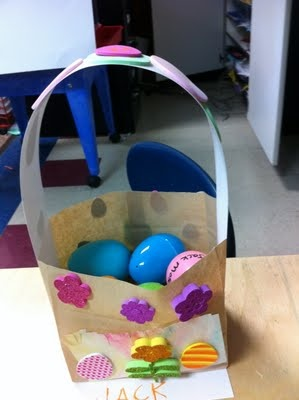 95 best easter preschool ideas images on pinterest easter crafts this is a very easy and cheap way to make an easter basket it does require you prepare the baskets for the children to decorate negle Image collections