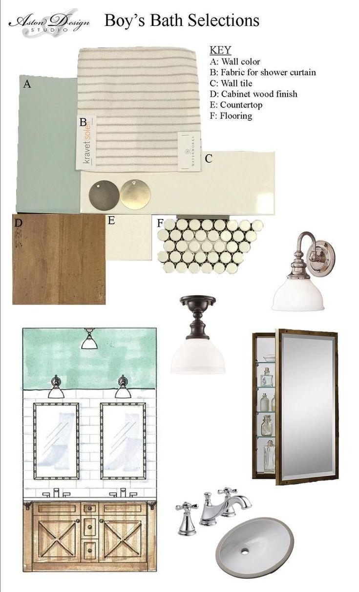 Boyu0027s Bathroom Selections | Interior Designer Carla Aston.