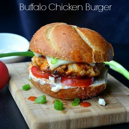 Buffalo-Chicken-Burger. Making this for my family when I cook dinner next