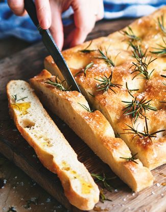 Lemon and herb focaccia