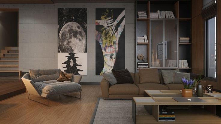 image de maison et salon de design contemporain