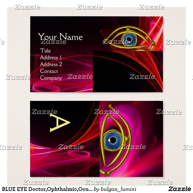 BLUE EYE Doctor,Ophthalmic,Oculist Symbol,Red Pink Business Card #oculist #Ophthalmic #Ophthalmologist #eye #eyedoctor #businesscards