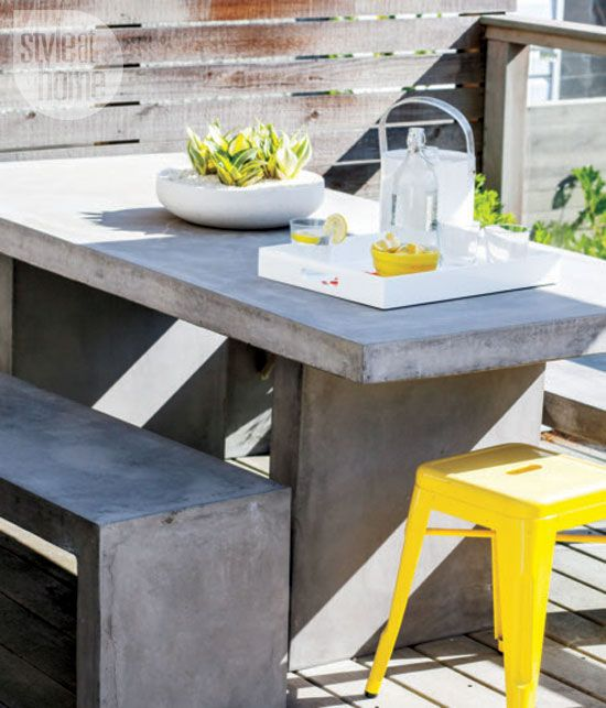 Interior: Cheerful Contemporary Family Home. Modern Outdoor  FurnitureConcrete ...